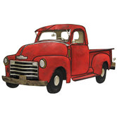 Red Truck Metal Wall Decor